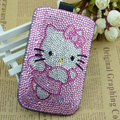 Luxury Bling Holster Covers Hello kitty diamond Crystal Cases for iPhone 6 Plus - Pink EB002