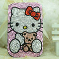Luxury Bling Holster Covers Hello kitty diamond Crystal Cases for iPhone 6 Plus - Pink EB006