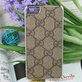 Luxury GUCCI Ultrathin Metal edge Hard Back Cases Covers for iPhone 6 Plus - Brown