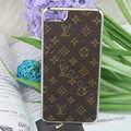 Luxury LOUIS VUITTON LV Ultrathin Metal edge Hard Back Cases Covers for iPhone 6 Plus - Brown