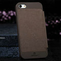 Nillkin England Retro Leather Case Covers for iPhone 6 Plus - Brown (High transparent screen protector)