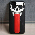 Skull 3D Tongue Hard Back Cases With Stand Covers for iPhone 6 Plus - Black