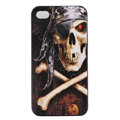 Skull Hard Back Cases Covers Skin for iPhone 6 Plus - Black EB002