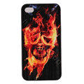 Skull Hard Back Cases Covers Skin for iPhone 6 Plus - Black EB006