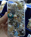 Swarovski crystal cases Bling Owl fish diamond cover for iPhone 6 Plus - White
