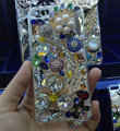 Swarovski crystal cases Flower diamond Bling cover skin for iPhone 6 Plus - White