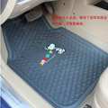 Classic Snoopy Cartoon Semi Universal Tech Carpet Car Floor Mats Rubber 5pcs Sets - Gray