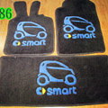 Cute Tailored Trunk Carpet Cars Floor Mats Velvet 3pcs Sets For Mercedes Benz Smart - Black