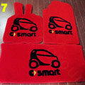Cute Tailored Trunk Carpet Cars Floor Mats Velvet 3pcs Sets For Mercedes Benz Smart - Red