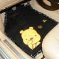 Discount Winnie the Pooh Lace Universal Oriental Carpet Girly Car Floor Mats Plush 5pcs Sets - Black