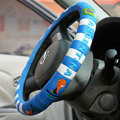 Good Football Argentina Green Latex Rubber Auto Cars Steering Wheel Covers 15 inch 38CM - Blue