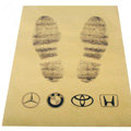 High Quality Disposable Automobile Logo Paper Universal Vehicle Carpet Car Floor Mats 100pcs - Yellow
