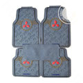 Mitsubishi Logo Universal Vehicle Carpet Car Floor Mats Rubber PVC 5pcs Sets - Grey
