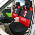 Personalized FC AC Milan Universal Automobile Cars Seat Covers Sandwich Fabric 18pcs Sets - Black