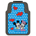 Polka Dot Mickey Minnie Mouse Cartoon Disney Universal Carpet Car Floor Mats Rubber 5pcs Sets - Blue