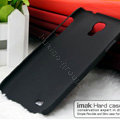IMAK Ultrathin Matte Color Cover Hard Case for Samsung Galaxy Note 4 N9100 - Black (High transparent screen protector)