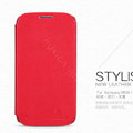 Nillkin leather Case Holster Cover Skin for Samsung Galaxy Note 4 N9100 - Red (High transparent screen protector)