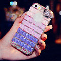 Beautiful Swarovski Bling Rhinestone Case Fox Fur ball Diamond Cover for iPhone 6 - Purple