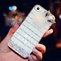 Beautiful Swarovski Bling Rhinestone Case Fox Fur ball Diamond Cover for iPhone 6 - White
