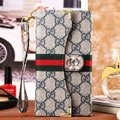 Classic Diamond Gucci High Quality Leather Flip Cases Holster Covers for iPhone 6 Plus - Gray