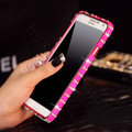 Classic Swarovski Bling Metal Bumper Frame Case Diamond Cover for Samsung Galaxy Note 4 N9100 - Rose