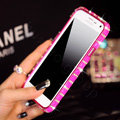 Classic Swarovski Bling Metal Bumper Frame Case Diamond Cover for Samsung Galaxy S5 i9600 - Rose