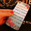Funky Swarovski Bling Rhinestone Case Bowknot Diamond Cover for iPhone 6 - Blue