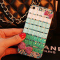 Funky Swarovski Bling Rhinestone Case Bowknot Diamond Cover for iPhone 6 - Green