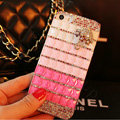 Funky Swarovski Bling Rhinestone Case Umbrella Diamond Cover for iPhone 6 - Pink