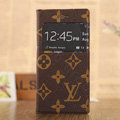 Hot Sale LV Louis Vuitton Bracket Leather Flip Cases Holster Covers for iPhone 6 - Brown
