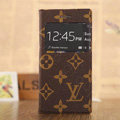Hot Sale LV Louis Vuitton Bracket Leather Flip Cases Holster Covers for iPhone 6 Plus - Brown