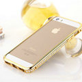 Hot sale Swarovski Bling Diamond Metal Bumper Frame Case Cover for iPhone 6 - Gold