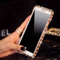 Swarovski Bling Metal Bumper Frame Case Diamond Cover for Samsung GALAXY Note III 3 N9000 - Champagne