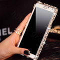 Swarovski Bling Metal Bumper Frame Case Diamond Cover for Samsung GALAXY Note III 3 N9000 - White