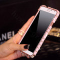 Swarovski Bling Metal Bumper Frame Case Diamond Cover for Samsung GALAXY S4 I9500 SIV - Pink