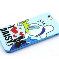 Cartoon Cover Disney Donald Duck Silicone Cases Skin for iPhone 6 Plus 5.5 - Blue