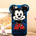 Cartoon Mickey Mouse Cover Disney Graffiti Silicone Cases Skin for iPhone 6 Plus 5.5 - Blue