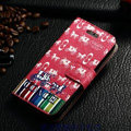 Classic Coach High Quality Leather Flip Cases Holster Covers For iPhone 6 Plus 5.5 - Red