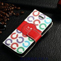 Classic Coach High Quality Leather Flip Cases Holster Covers For iPhone 6 Plus 5.5 - White