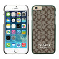 Cool Coach Covers Hard Back Cases Protective Shell Skin for iPhone 6 Plus 5.5 - Black