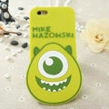 Cute Cartoon Cover Disney Mike Wazowski Silicone Cases Skin for iPhone 6 Plus 5.5 - Green