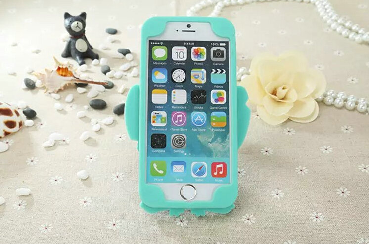Cute cartoon cover disney stitch silicone cases skin for iphone 6