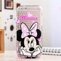 Cute Cover Disney Minnie Mouse Silicone Case Cartoon for iPhone 6 Plus 5.5 - Transparent