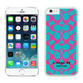 Luxury Coach Covers Hard Back Cases Protective Shell Skin for iPhone 6 Plus 5.5 Pink - White