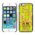 Plastic Coach Covers Hard Back Cases Protective Shell Skin for iPhone 6 Plus 5.5 Yellow - Black