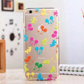 TPU Cover Disney Mickey Mouse Silicone Case Cartoon for iPhone 6 Plus 5.5 - Transparent