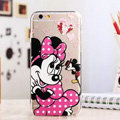 TPU Cover Disney Minnie Mouse Silicone Case Cartoon for iPhone 6 Plus 5.5 - Transparent