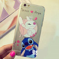 Transparent Cover Disney Stitch Silicone Shell Angie for iPhone 6 Plus 5.5 - White