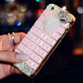 Beautiful Swarovski Bling Rhinestone Case Fox Fur ball Diamond Cover for iPhone 6S - Pink