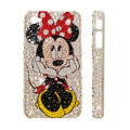 Bling Swarovski crystal cases Minnie Mouse diamond covers for iPhone 6S - White